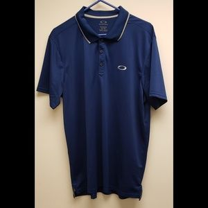 Oakley Blue Golf Polo Shirt Regular Fit Men's XL